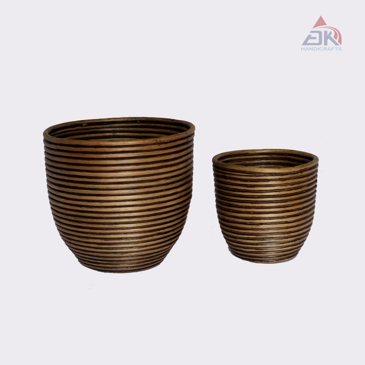Coiled Planter Pot S/2 # DK47
