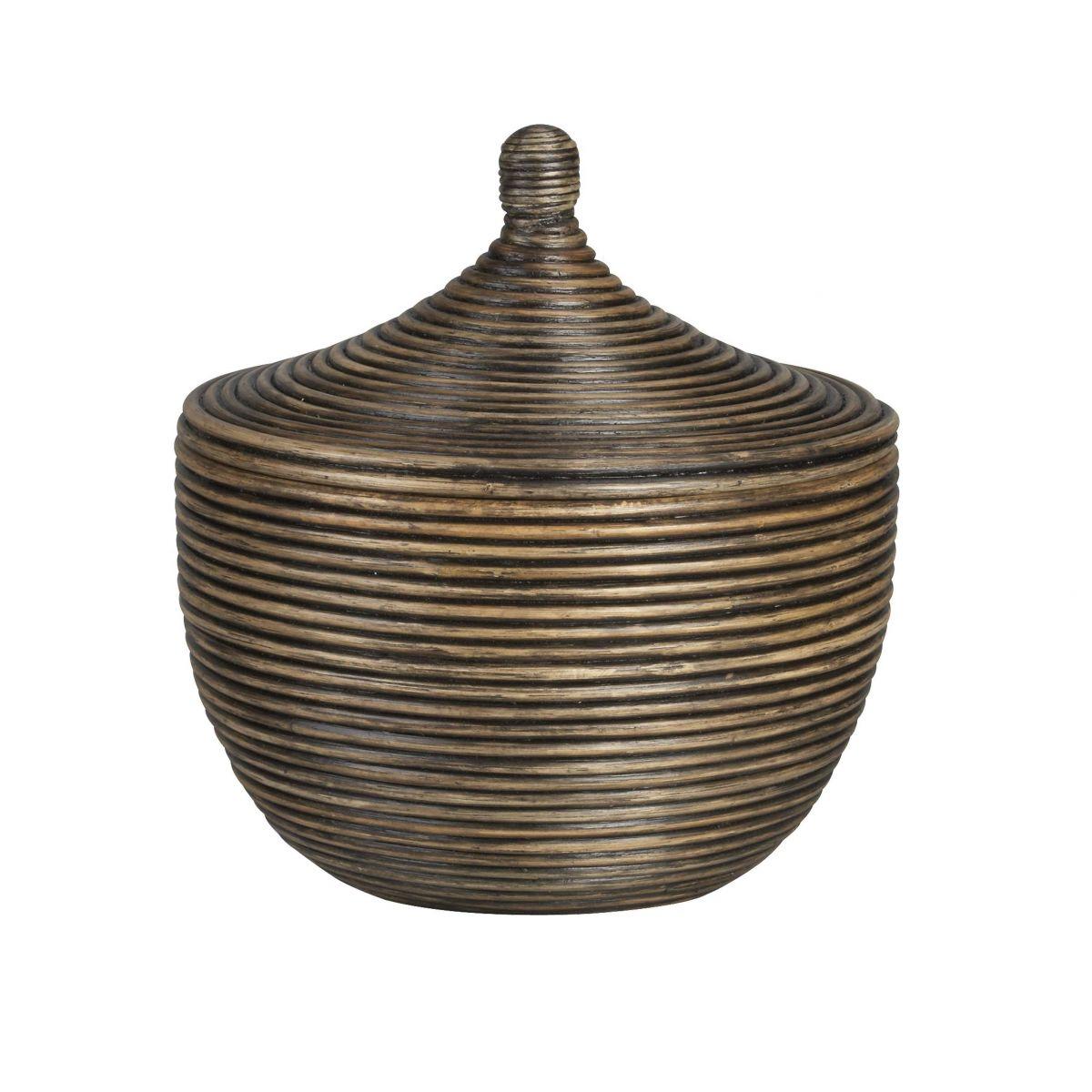 Coiled Lidded Basket # DK48