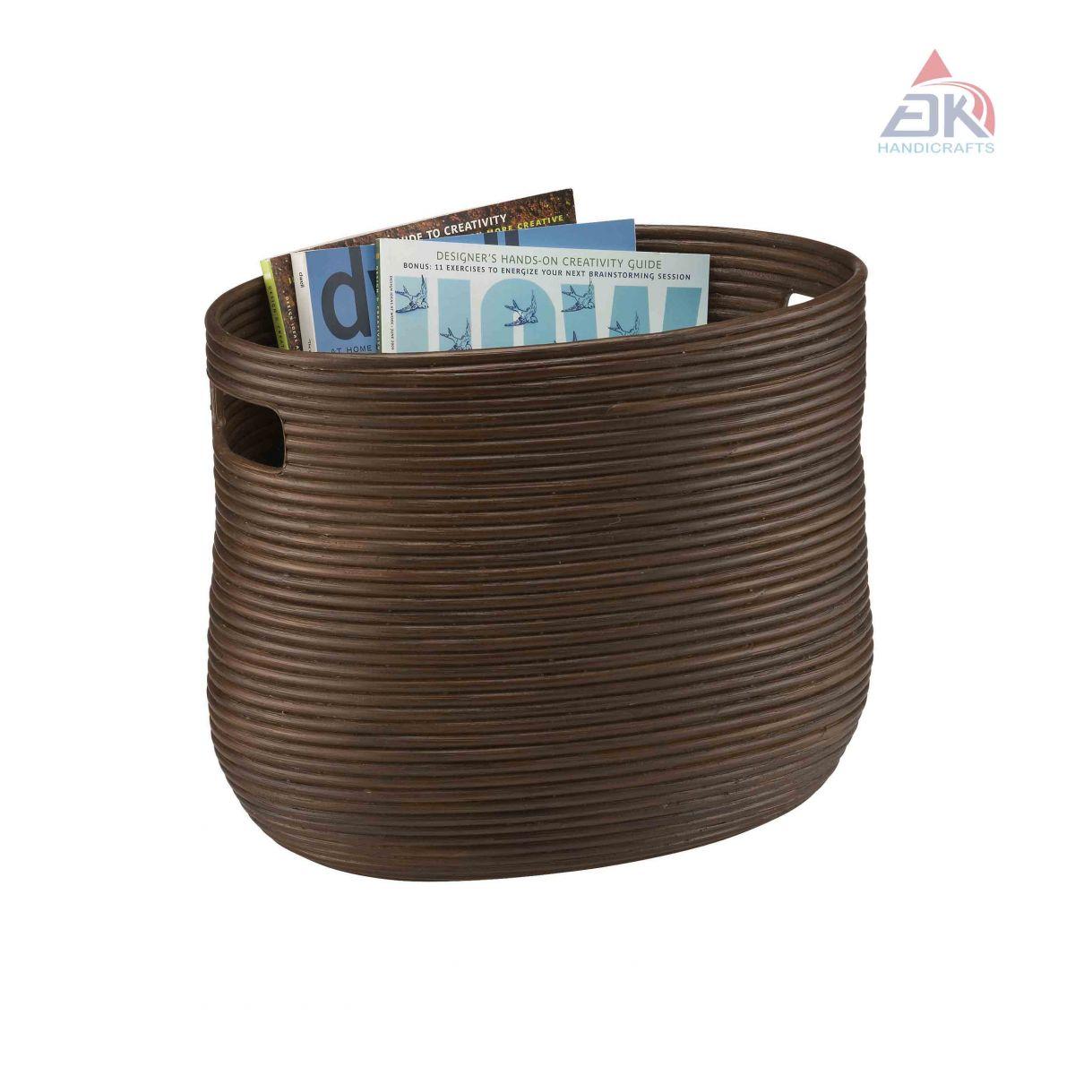 Coiled Magazine Basket # DK34