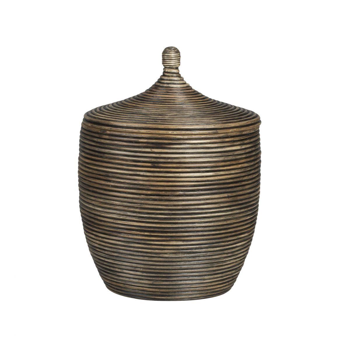 Big Lidded Basket # DK49