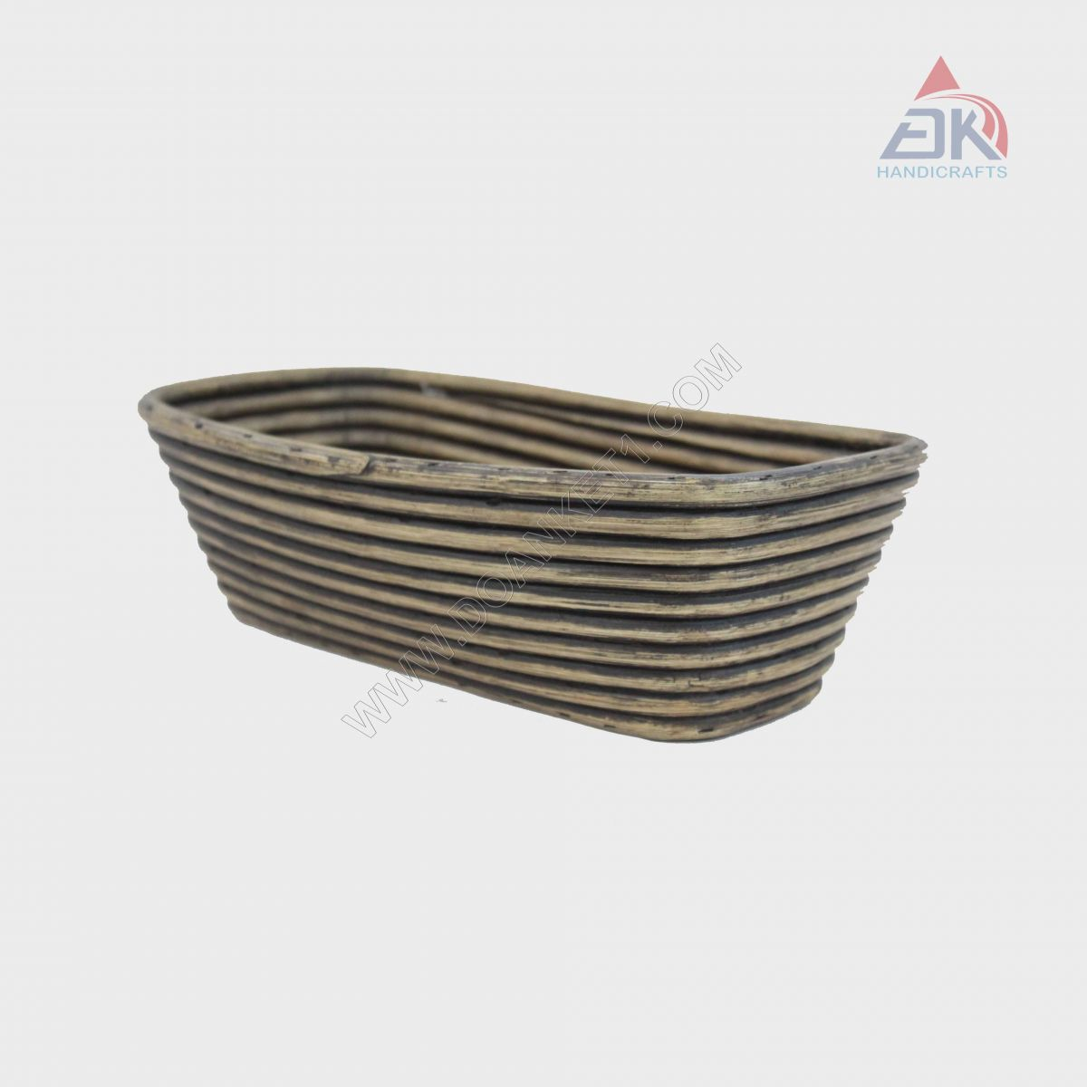 Coiled Oval Basket # DK38