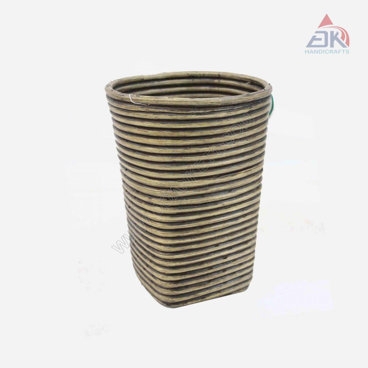 Rattan Coiled Basket # DK39
