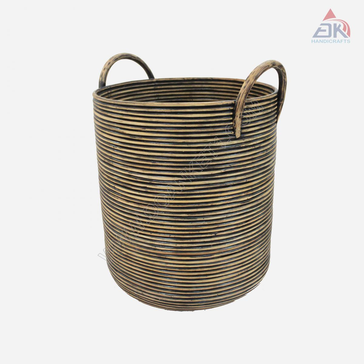 Tall Coiled Basket # DK45