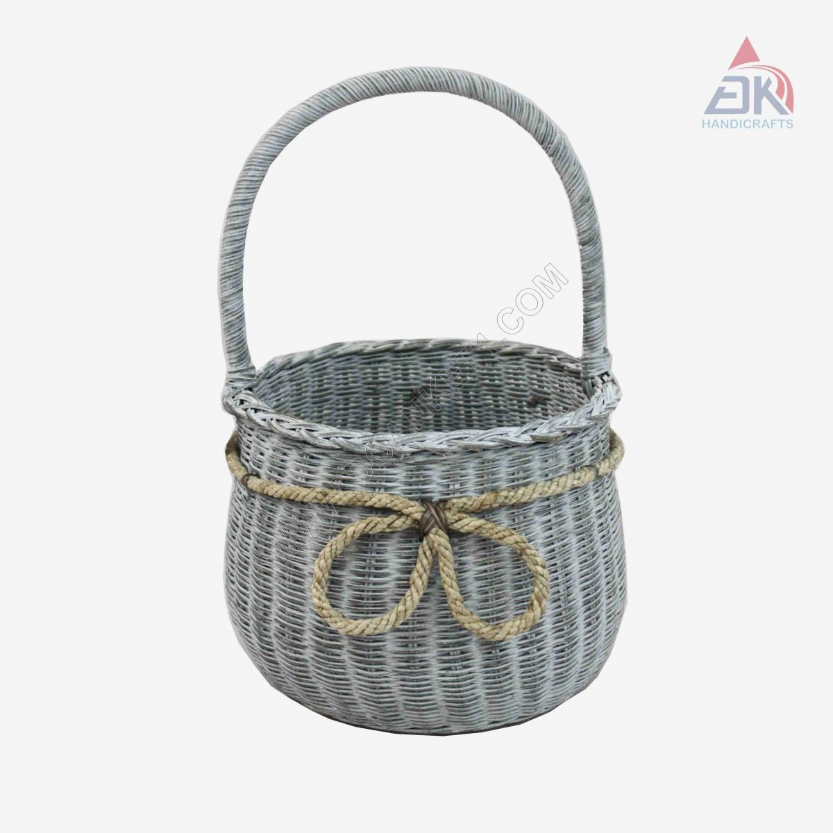 WICKER HANDLE BASKET # DK468