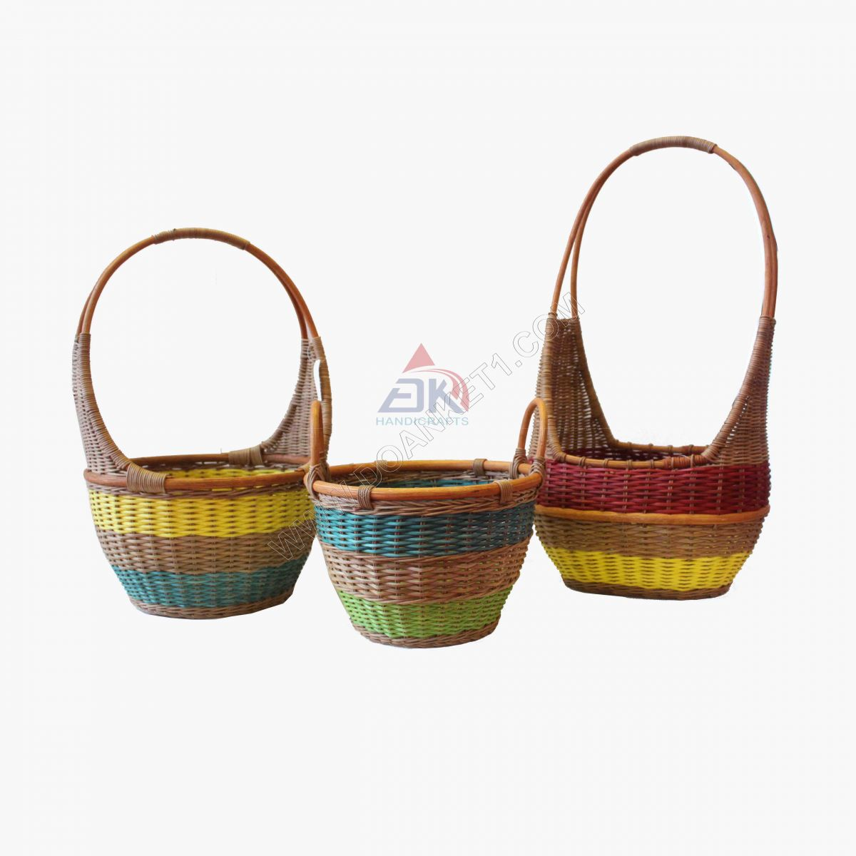 WICKER HANDLE BASKET # DK425