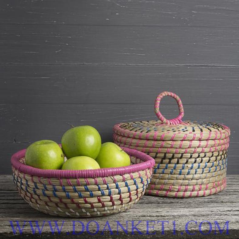 Seagrass Basket S/2 # DK224