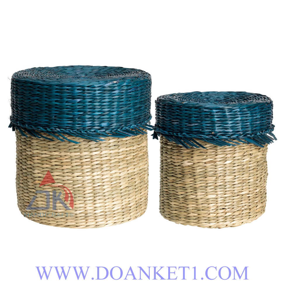 Seagrass Basket With Lid # DK238