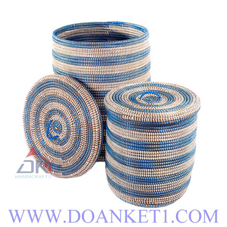 Seagrass Basket S/2 # DK240