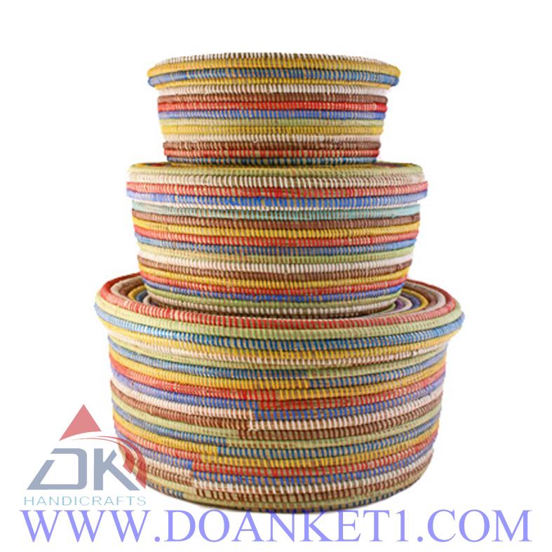 Seagrass Basket S/3 # DK188