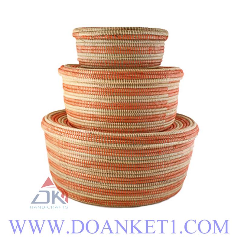 Seagrass Basket S/3 # DK189