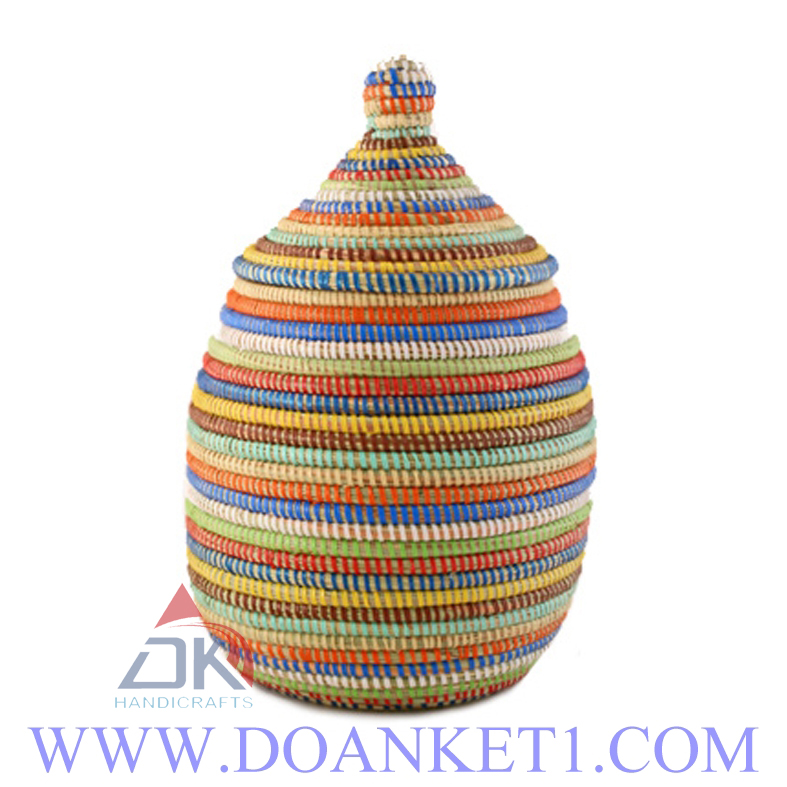 Seagrass Basket With Lid # DK202