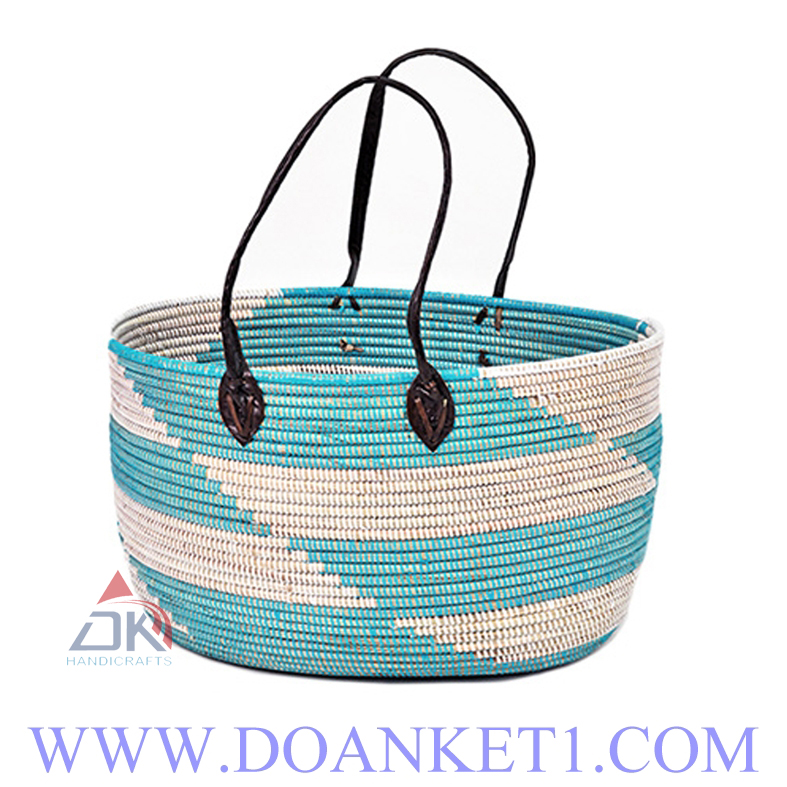 Seagrass Basket With Handle # DK218