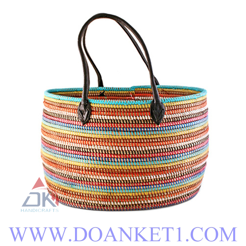 Seagrass Basket With Handle # DK219
