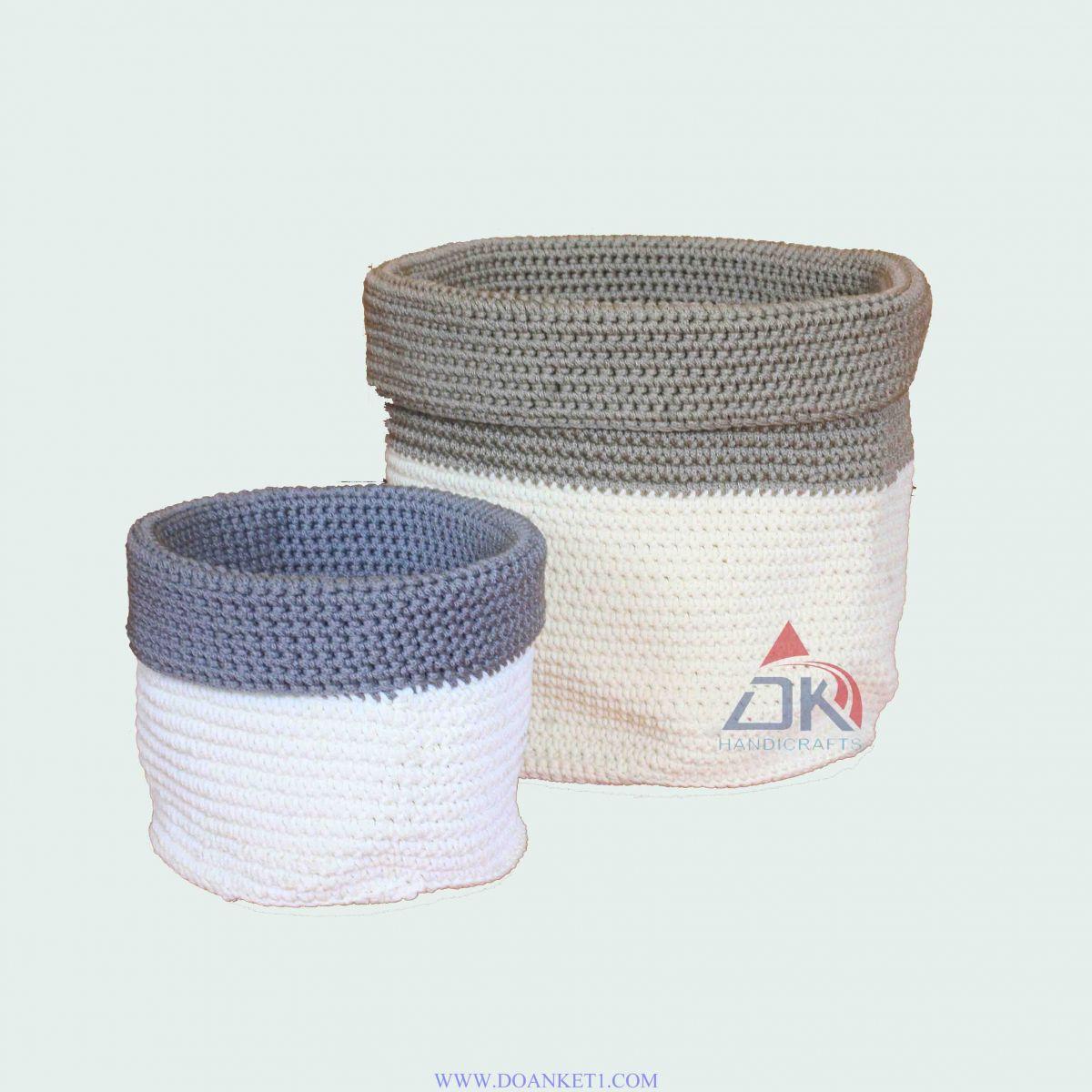 Textile Basket S/2 # DK139