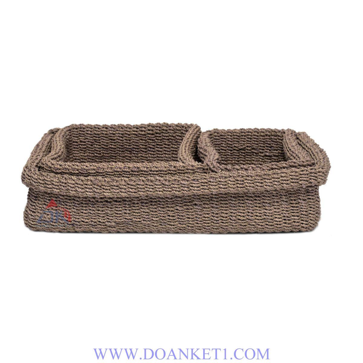 Textile Basket S/3 # DK170