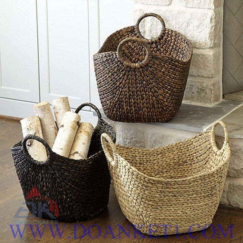 Water Hyacinth Storage Basket # DK255