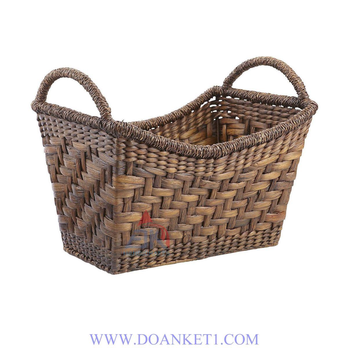 Water Hyacinth Magazine Basket # DK259
