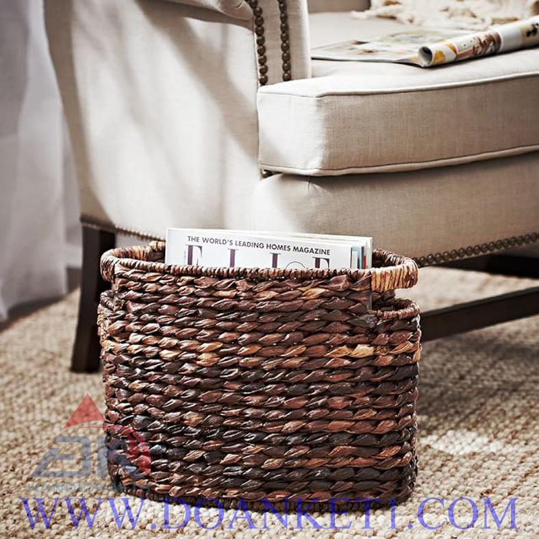 Water Hyacinth Magazine Basket # DK263