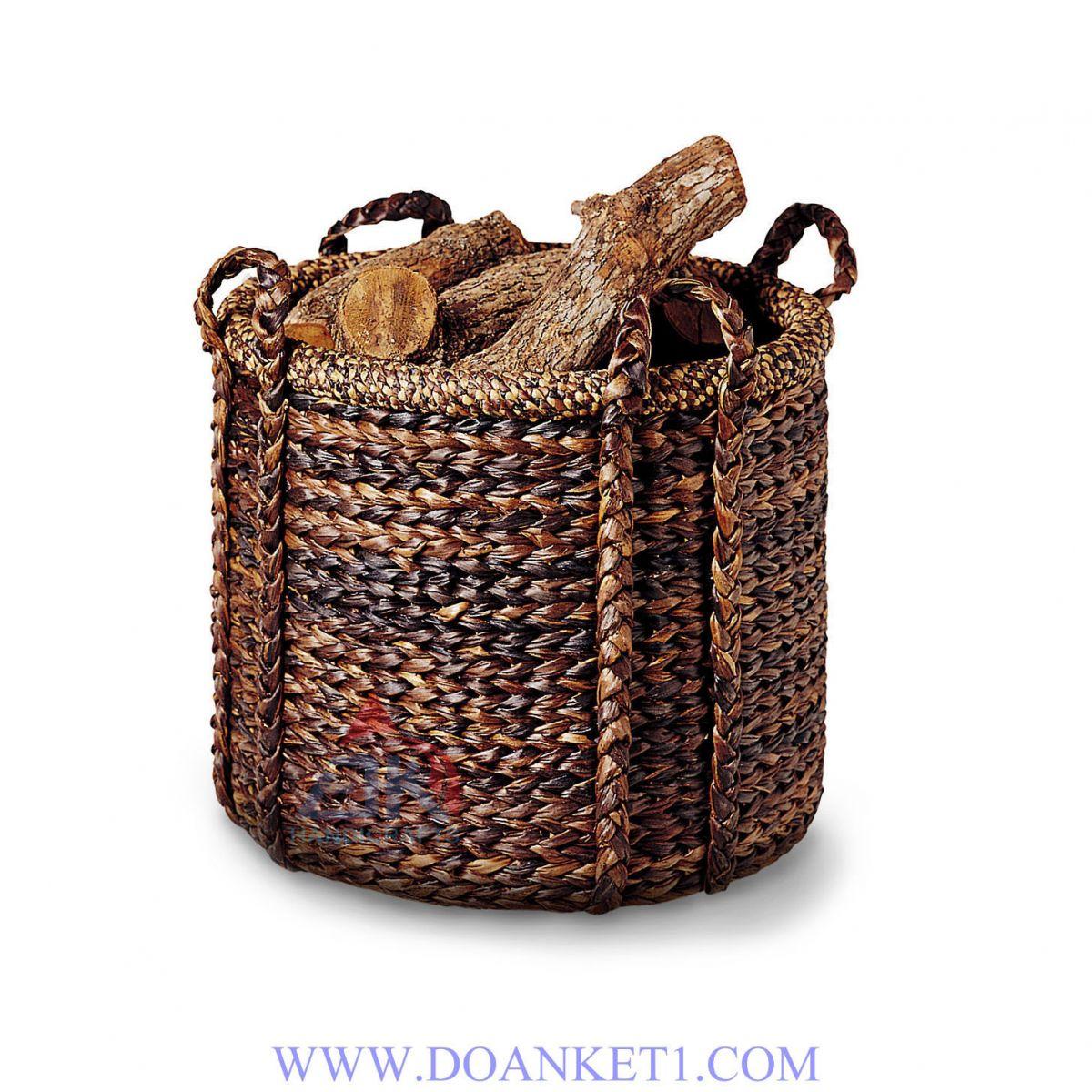 Water Hyacinth Storage Basket # DK266