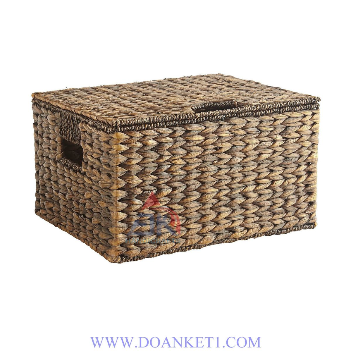 Water Hyacinth Basket With Lid # DK268