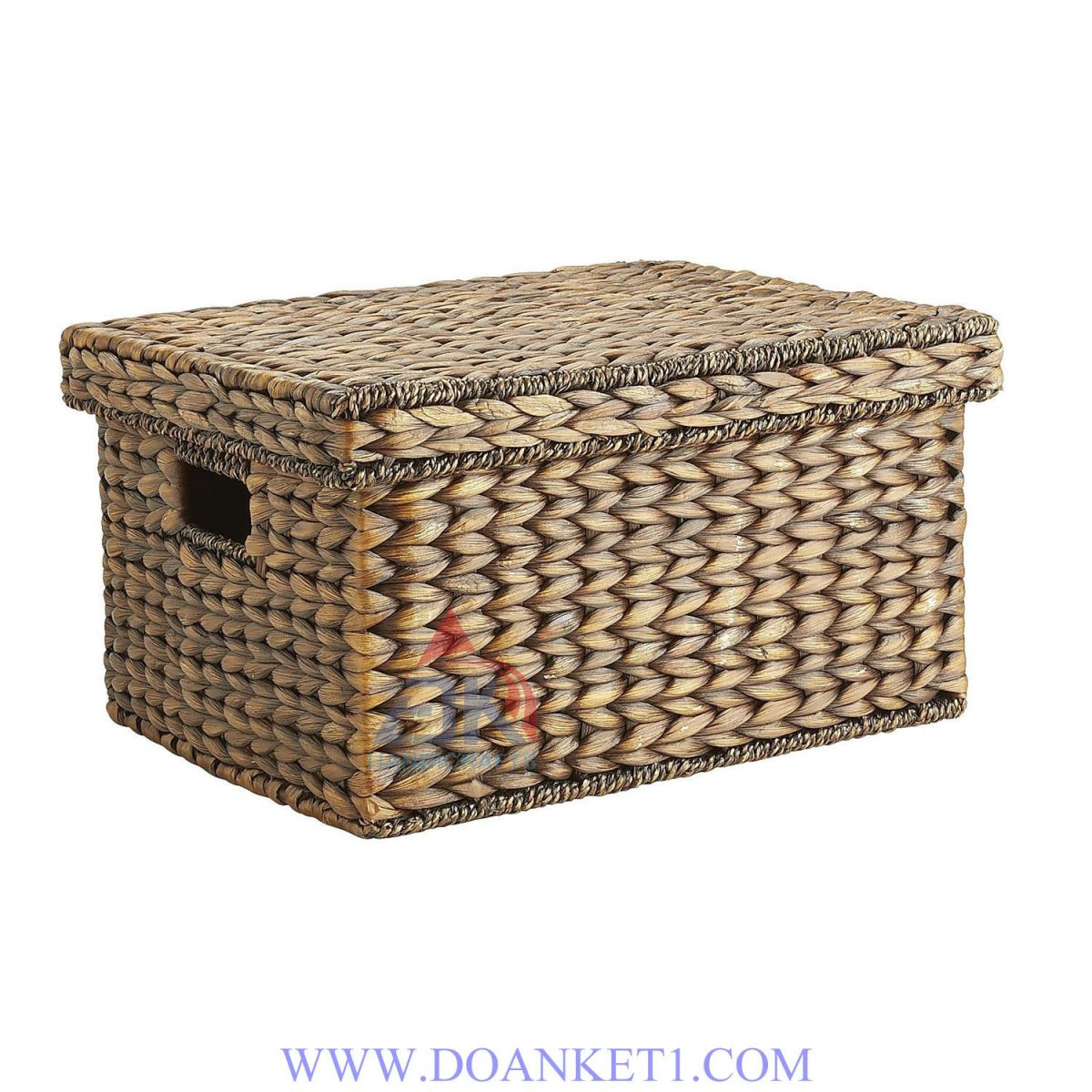 Water Hyacinth Basket With Lid # DK270