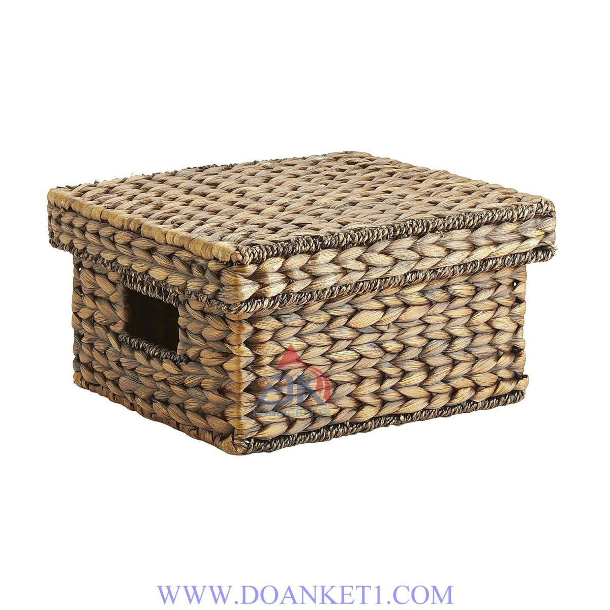 Water Hyacinth Basket With Lid # DK272