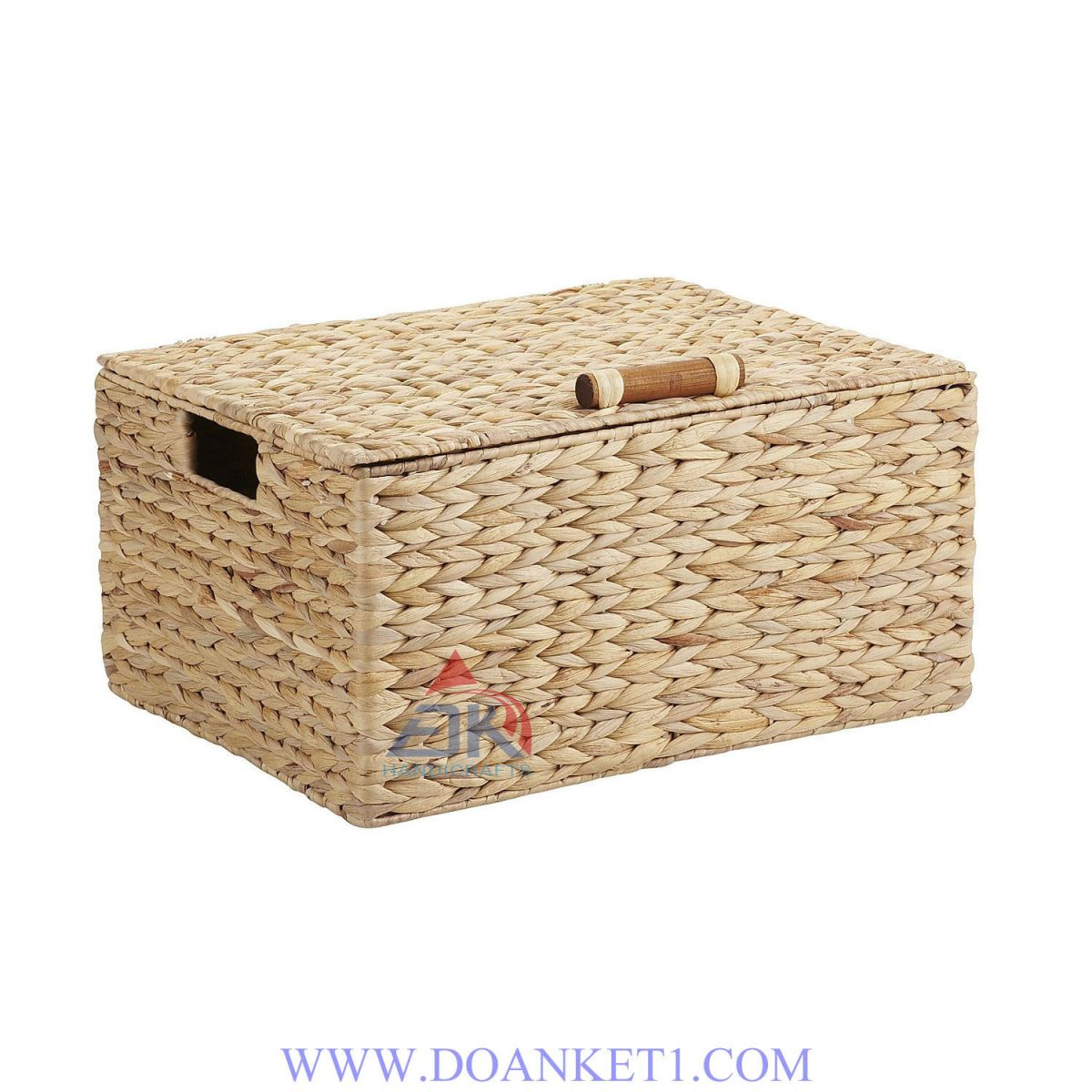 Water Hyacinth Basket With Lid # DK274