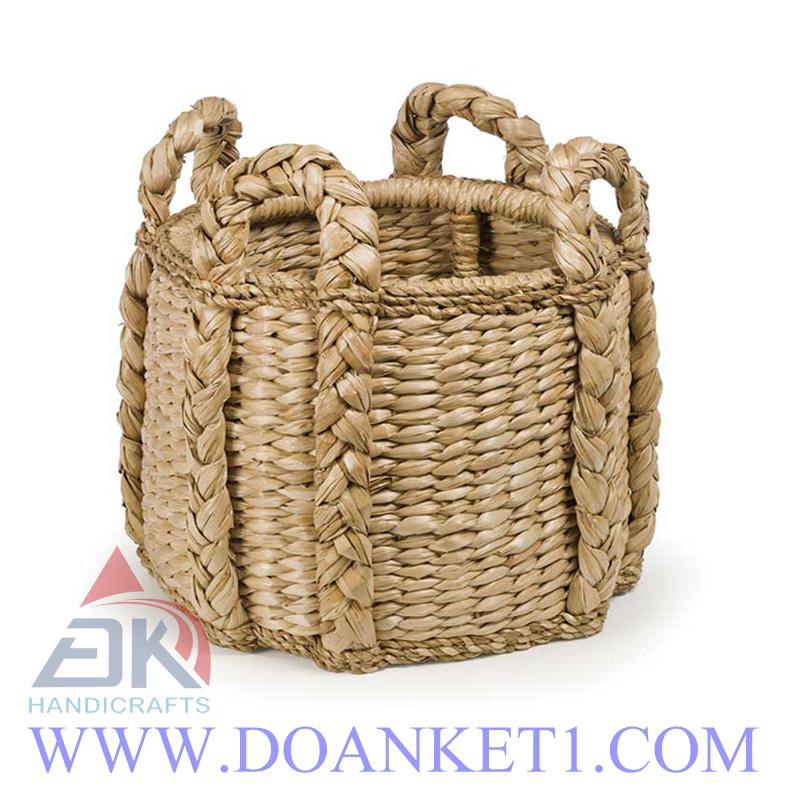 Water Hyacinth Storage Basket # DK281