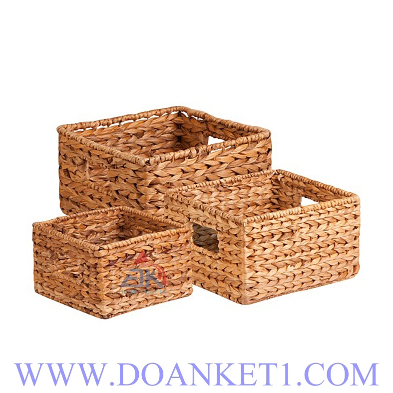 Water Hyacinth Basket S/3