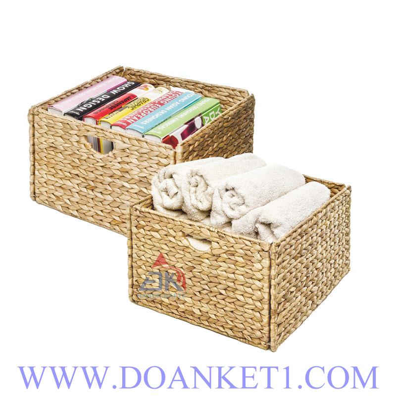 Water Hyacinth Basket S/2 # DK303