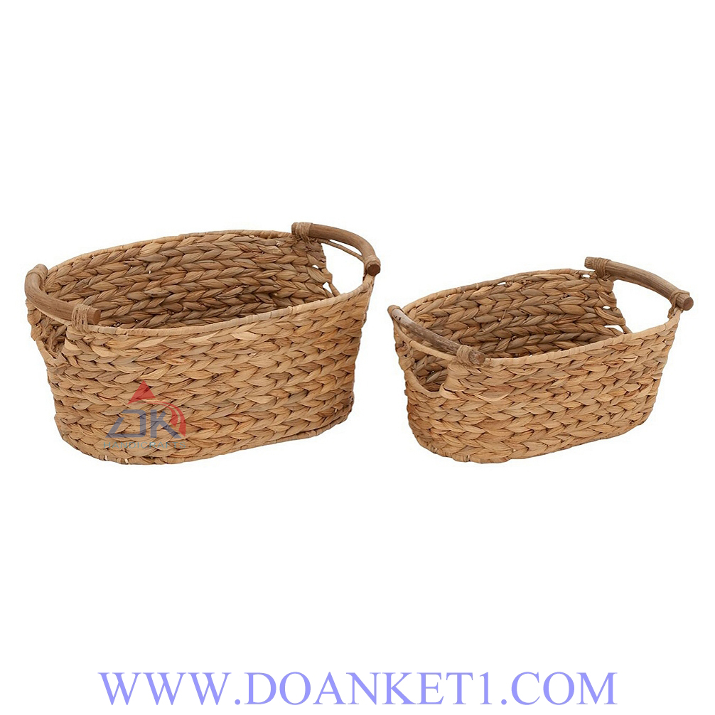 Water Hyacinth Basket S/2