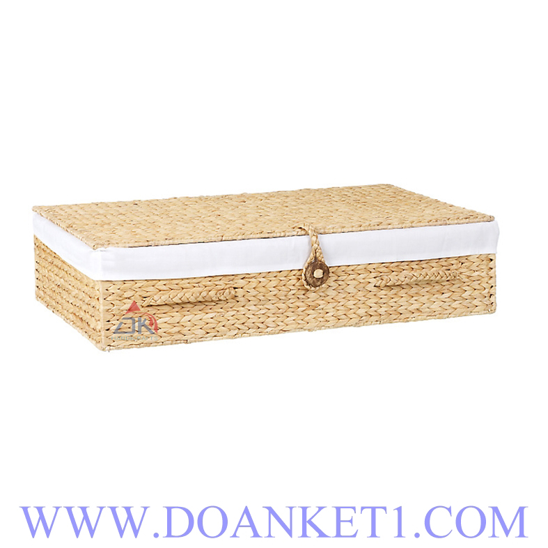 Water Hyacinth Basket With Lid # DK353