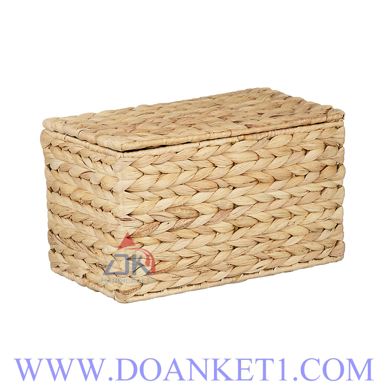 Water Hyacinth Basket With Lid # DK378