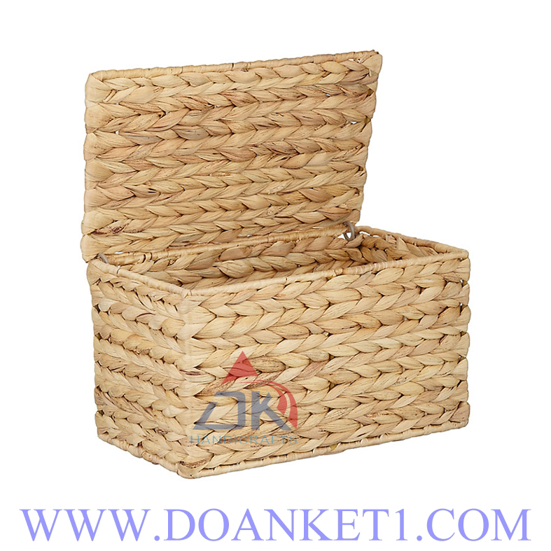 Water Hyacinth Basket With Lid # DK386