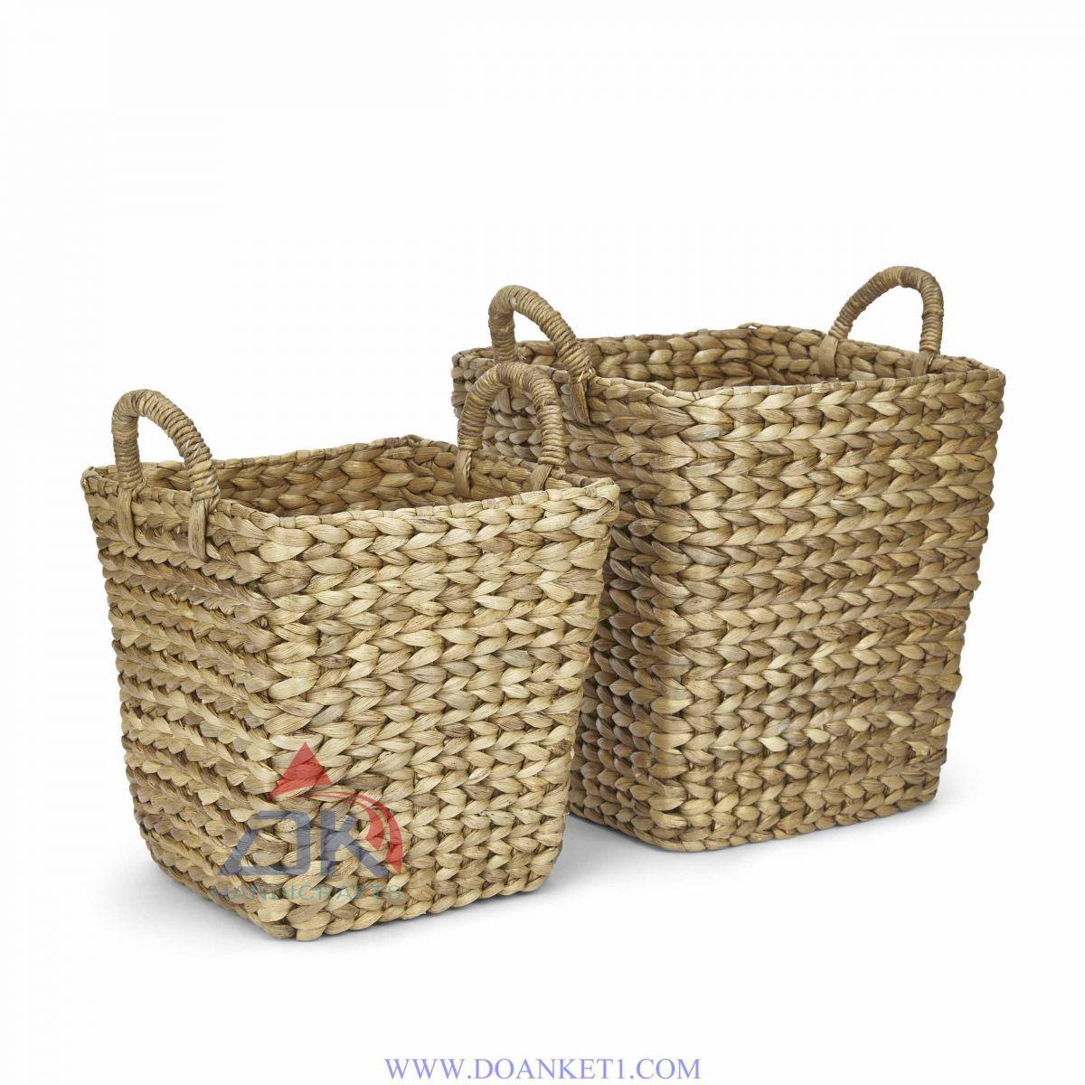 Water Hyacinth Basket S/2 # DK400