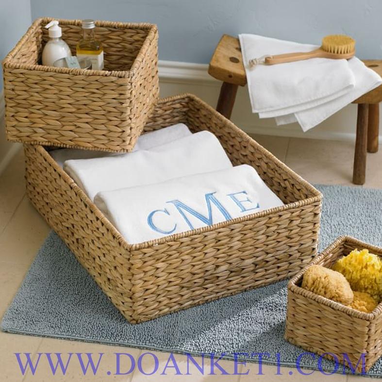 Water Hyacinth Basket S/3 # DK407