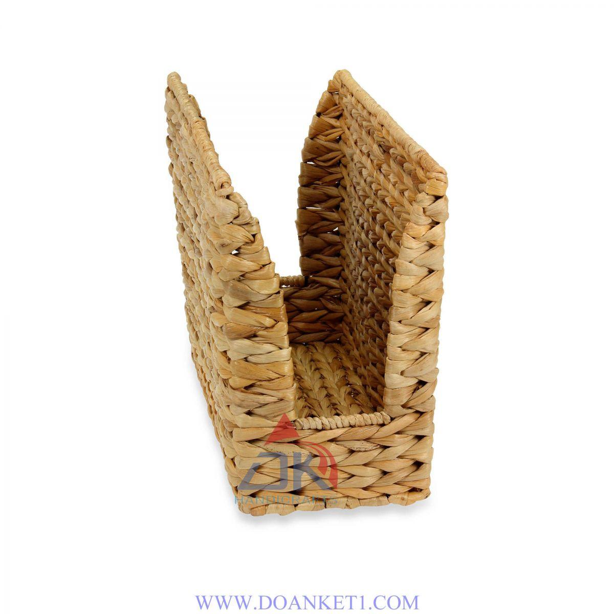 Water Hyacinth Magazine Basket # DK409